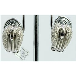 14K WHITE GOLD EARRING 8.95GRAM DIAMOND 0.97CT