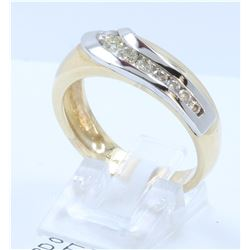 14K TWO TONE GOLD DIAMOND RING:7.88 GRAMS/DIAMOND:0.60CT