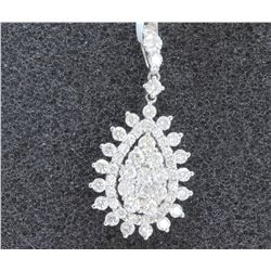 18 K WHITE GOLD DIAMOND PENDANT:2.15GRAMS/DIAMOND:1.39CT