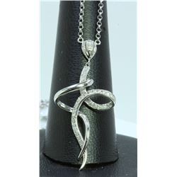 14K WHITE GOLD PENDANT 5.30GRAM  DIAMOND 0.33CT