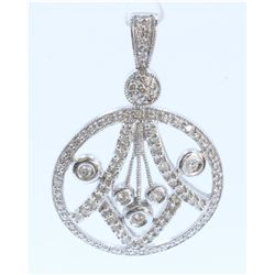 14K WHITE GOLD DIAMOND PENDANT:4.99 GRAMS/DIAMOND:0.72CT