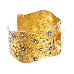 Sterling Silver .925 gold tone Cuff Bangle 53.55 gram