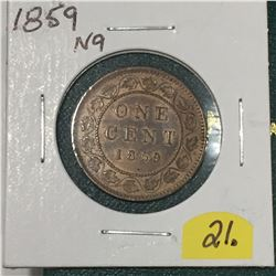 1859 N9 Canada Large Cent