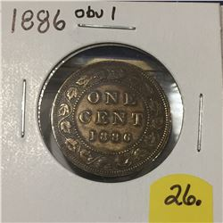 1886 Canada Large Cent - Obv. 1