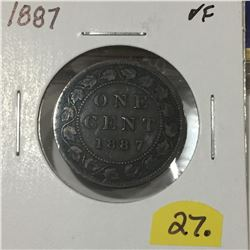 1887 Canada Large Cent