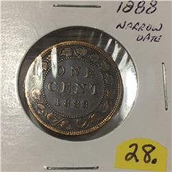 1888 Canada Large Cent - Narrow Date