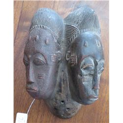 Baule Wood Double Mask