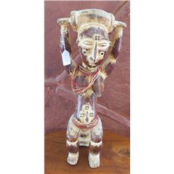 African Female Figure on Stool