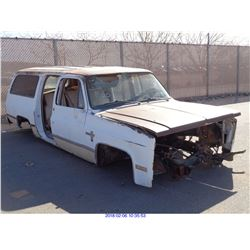 1982 - CHEVROLET SUBURBAN//DISMANTLE TITLE ONLY