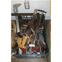 LARGE BOX LOT MISC HAND TOOLS