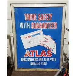 1960'S DOUBLE SIDED ATLAS DEALERSHIP SIGN