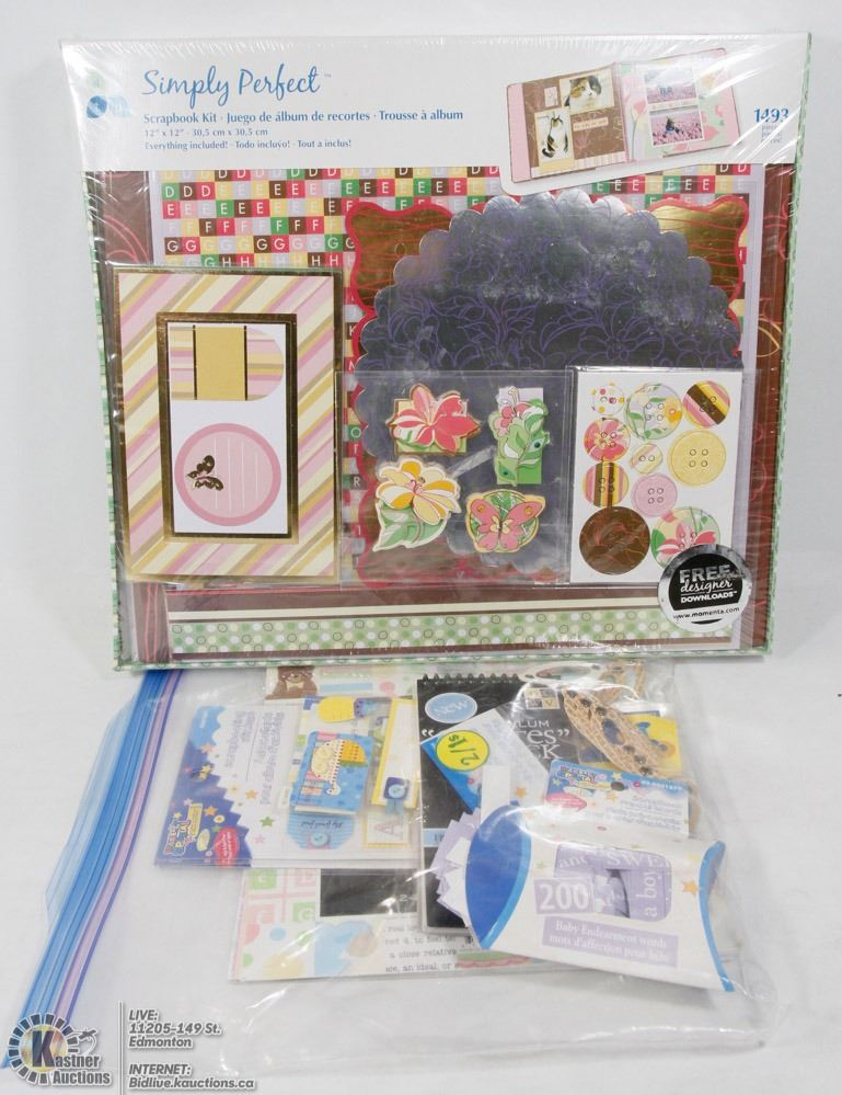 Scrapbooking Kit New In Box 1493pcs And More