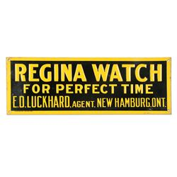E.D. Luckhard Regina Watch Agent Sign