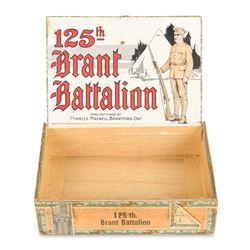 Cigar Box, 125th Brant Battalion