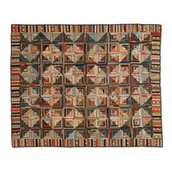 Unusual Ontario Log Cabin Quilt