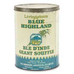 Blue Highland Linseed Oil Tin