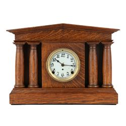 "Pequegnat ""Pantheon"" Mantel Clock"