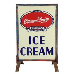 Ottawa Dairy Ice Cream Sidewalk Sign