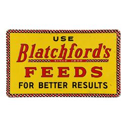 Large Blatchford's Feed Tin Sign
