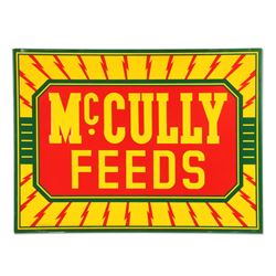 McCully Feeds Tin Sign
