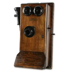 Northern Electric Walnut Wall Telephone