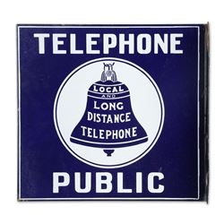 Porcelain Bell Telephone Flange Sign