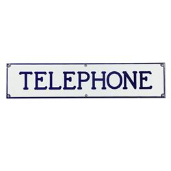 Porcelain Telephone Sign