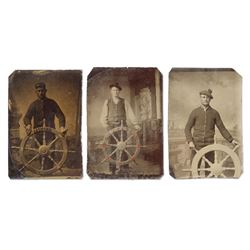 Nautical Tin-Type Sailor Portraits