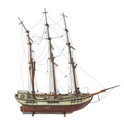 Imposing 19th C Scale Model Ship