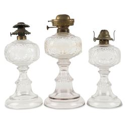 Graduated Set of Canadian Oil Lamps