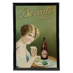 Boswell's Ales Tin Advertising Sign