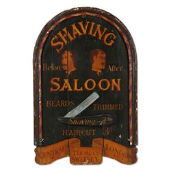 Shaving Saloon Trade Sign, England