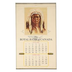 Royal Bank Native Chief Calendar