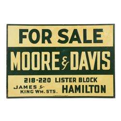 "Moore & Davis Real Estate ""For Sale"" Sign"