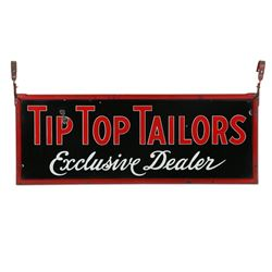 Porcelain Tip Top Tailors Exclusive Dealer Sign