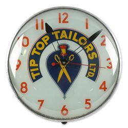Tip Top Tailors Back-Lit Advertising Clock