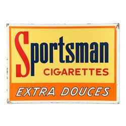 Tin Litho Sportsman Cigarettes Sign