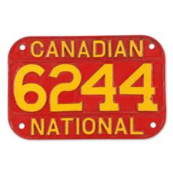 Canadian National Cast Locomotive Number Plate