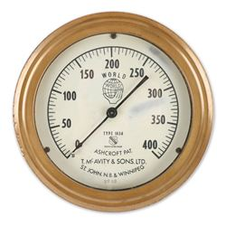 Locomotive Steam Pressure Gauge
