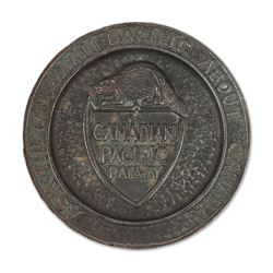Canadian Pacific Railway Cast Ashtray