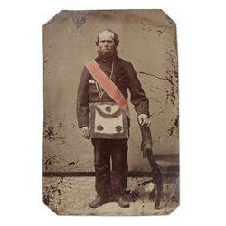 Tintype Photograph, Masonic