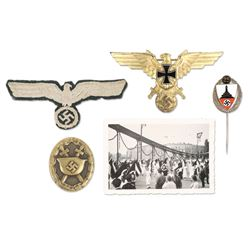 German WWII War Badges & Photograph