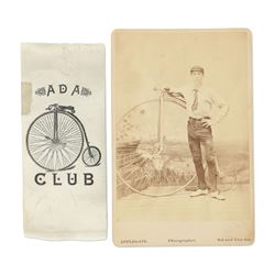 Victorian Bicycle Photograph, Ribbon
