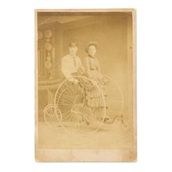 Unusual Victorian Bicycle Photograph