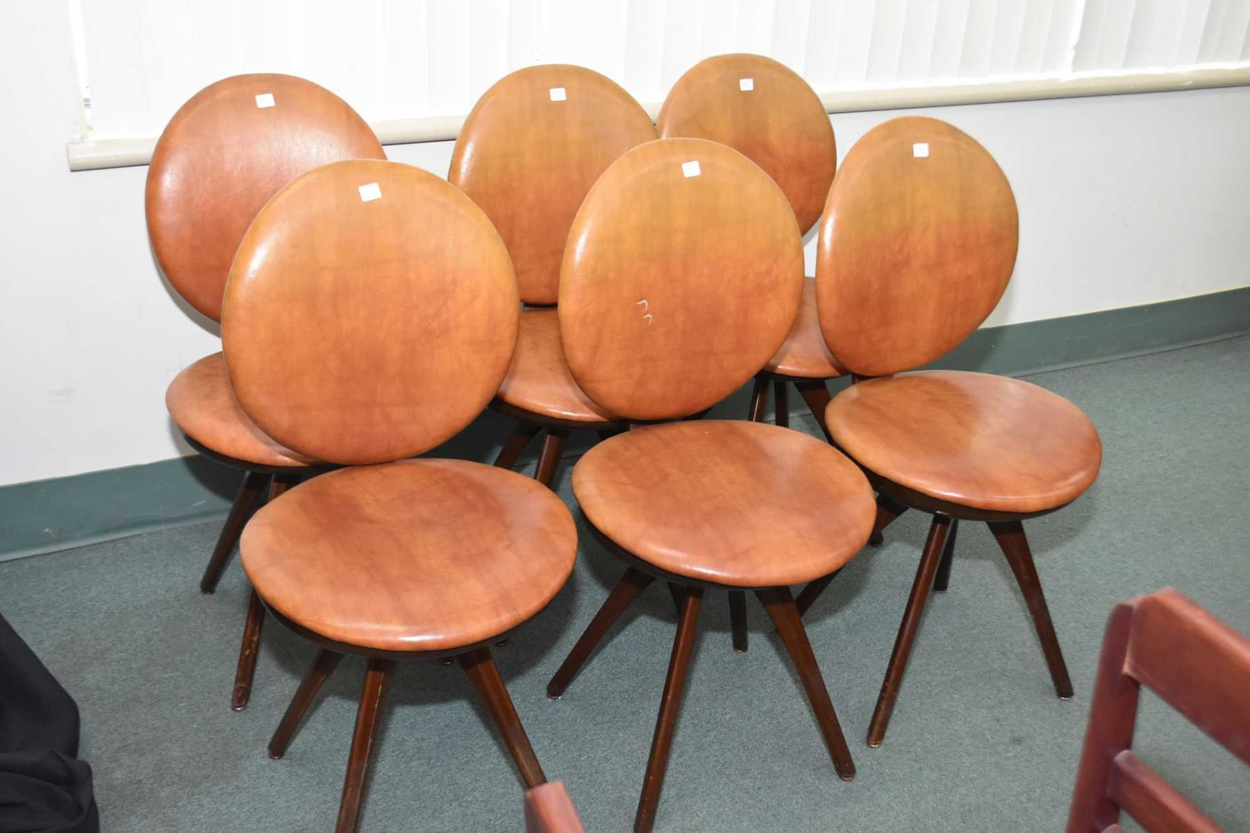 Image 1 : Set Of Six Mid Century Modern Upholstered Dining Chairs Made By  Honderich Furniture ...