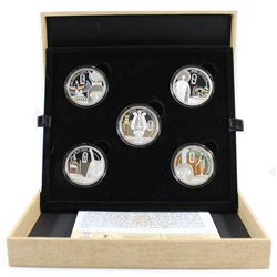 2013 Niue Mythologies of the World - Story of Osiris Fine Silver 5-coin Set (Tax Exempt). You will r