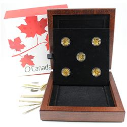 Complete 2013 Canada $5 O' Canada 1/10oz. Pure Gold Coin Collection (Tax Exempt). You will receive t