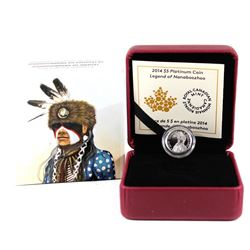 2014 Canada $5 Portrait of Nanaboozhoo Platinum Coin (Tax Exempt)