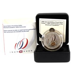 2009 Canada Montreal Canadians 100th Anniversary Proof Sterling Silver Dollar