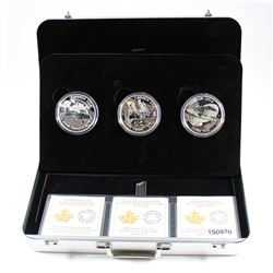 2016 Canada $20 Aircraft of the First World War 3-coin Fine Silver Set in Premium Metal Display Case